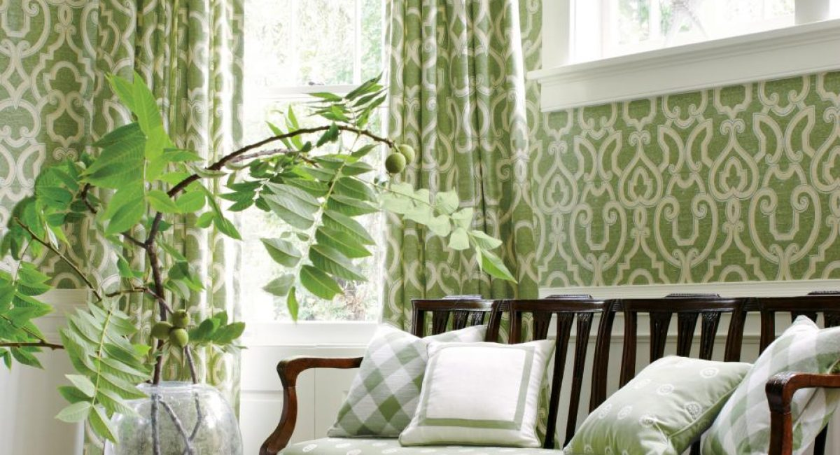 Thibaut color and wood tones